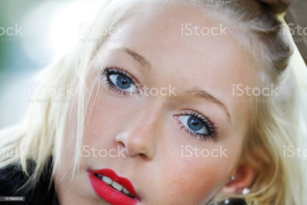 Young beautiful girl stock photo