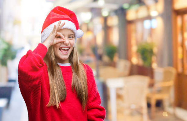 Best Face In Hole Christmas Stock Photos, Pictures & Royalty