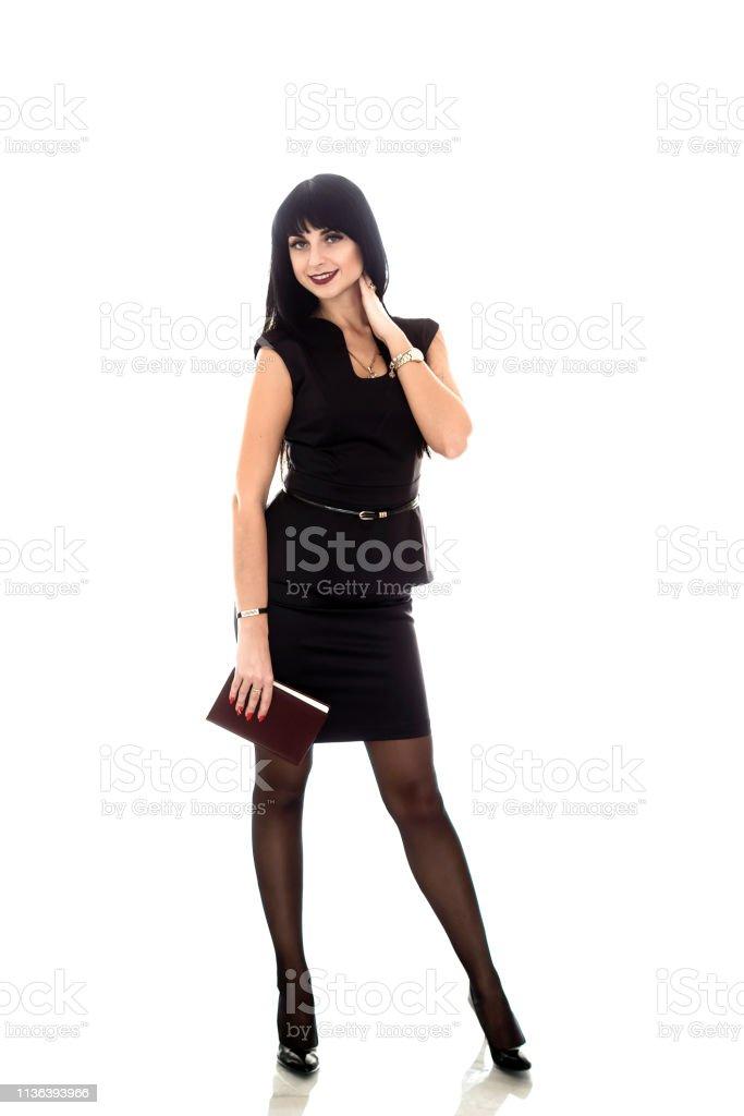 Hermosa Negocios Con Un Morena Joven De Mujer Vestida Traje Feliz 35L4RjA
