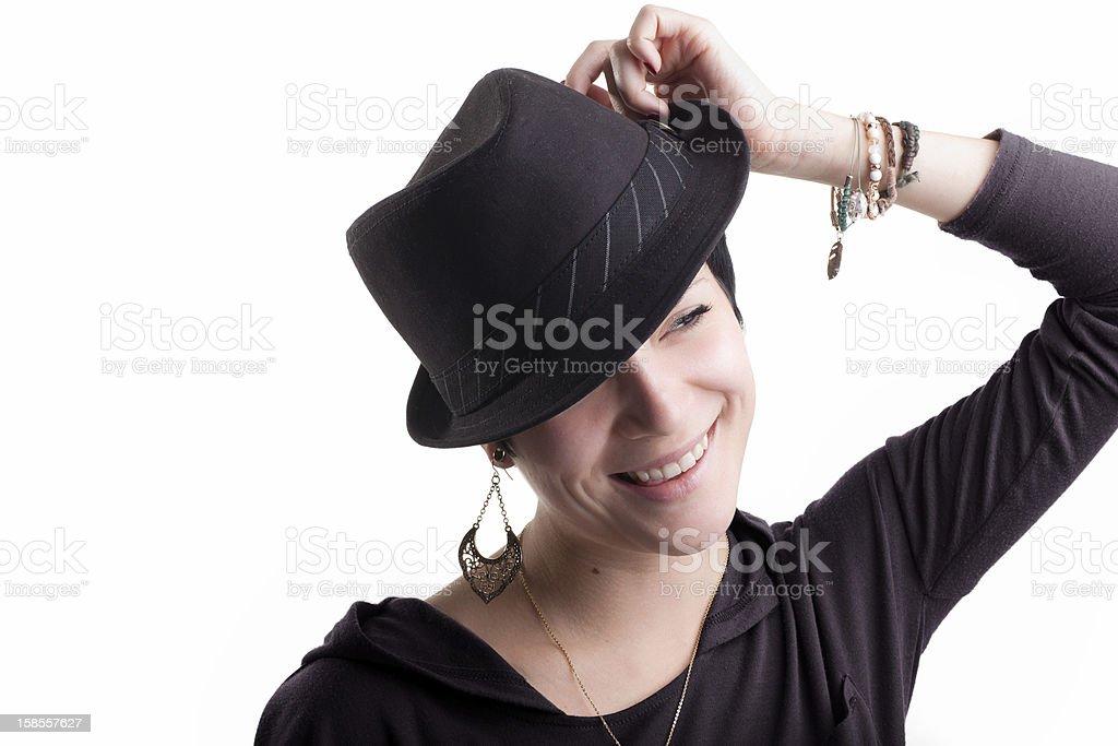 아름다운 행복한 젊은 여자 royalty-free 스톡 사진