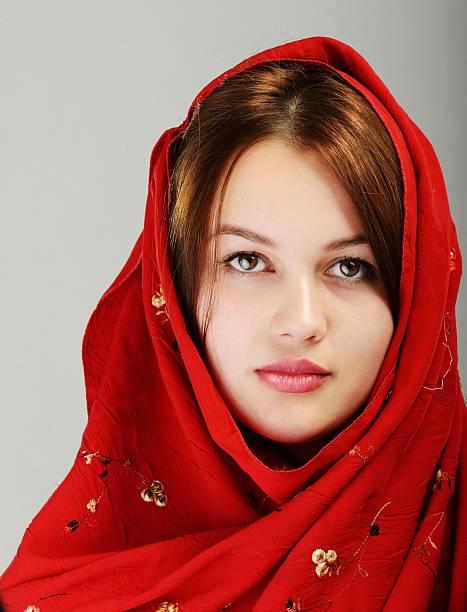 Young beautiful Muslim girl portrait stock photo