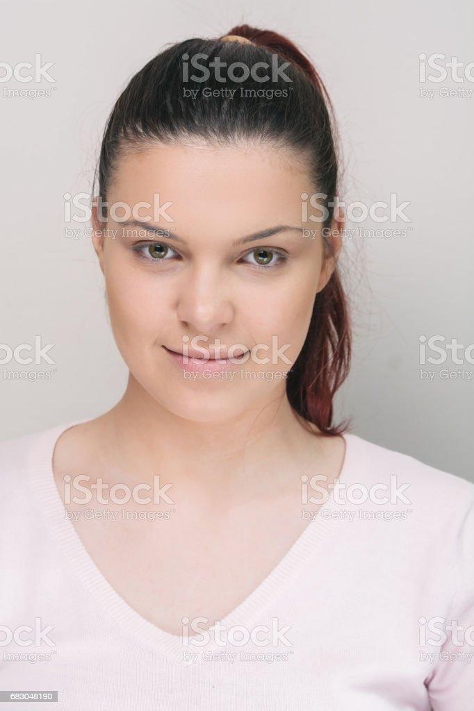 Young beautiful natural looking woman foto de stock royalty-free