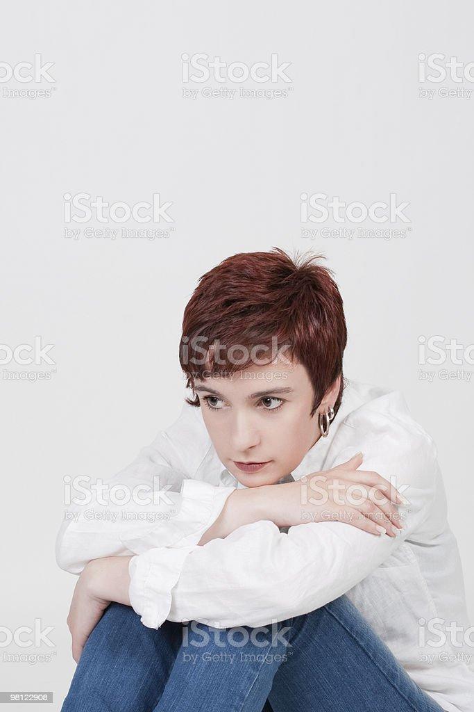 young beautiful sad woman royalty-free stock photo