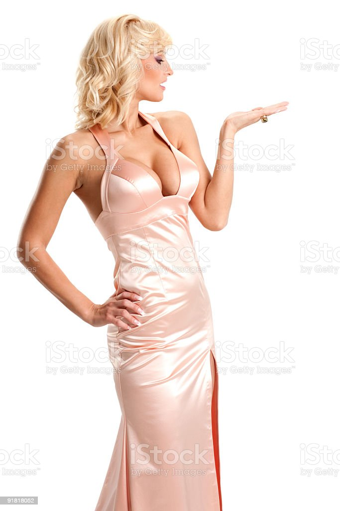 Young beautiful sexy blonde girl. royalty-free stock photo