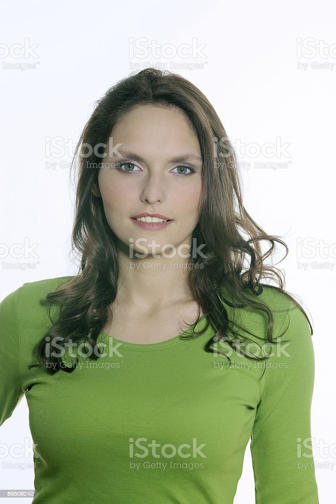 young beautiful smiling woman portrait royalty-free stock photo