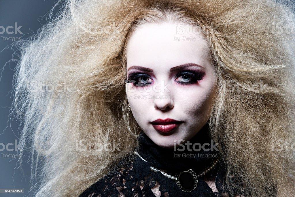 young beautiful vampire royalty-free stock photo