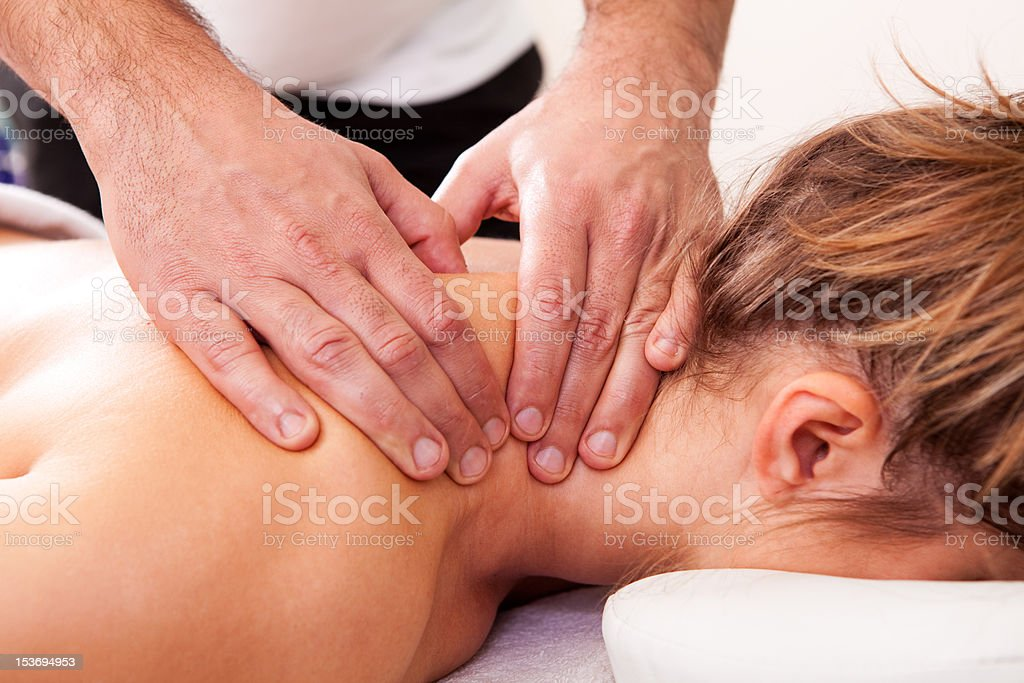 Young beautiful woman getting spa treatment royalty-free stock photo