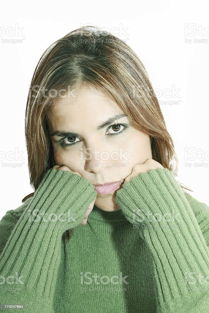 Young beautiful woman in depression royalty-free stock photo