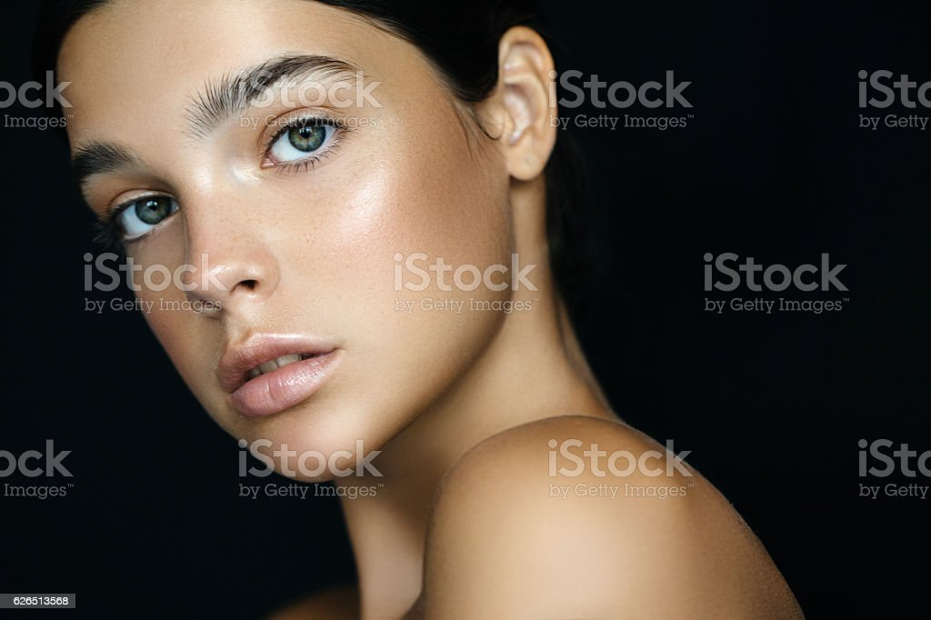 Young beautiful woman stock photo