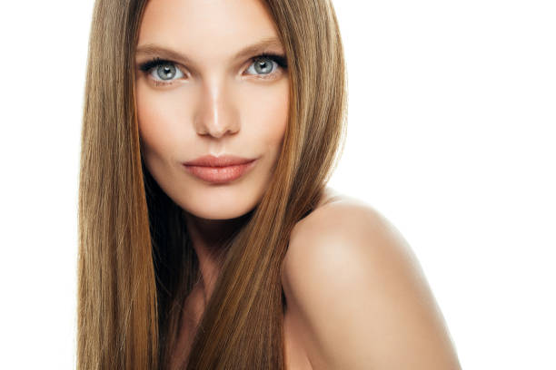 Young beautiful woman Young beautiful woman straight hair stock pictures, royalty-free photos & images