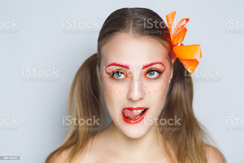 young beautiful woman portrait stock photo