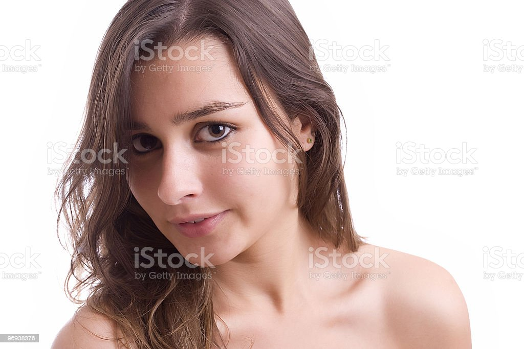 Young beautiful woman portrait royalty-free stock photo