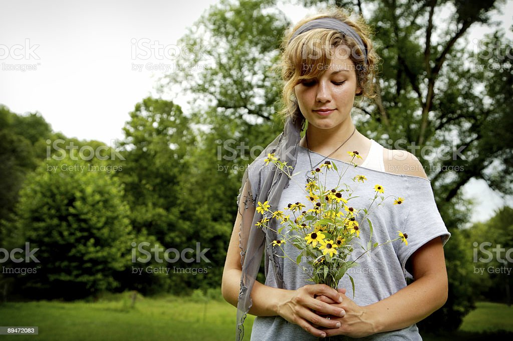 young beautiful woman portraits royalty-free stock photo