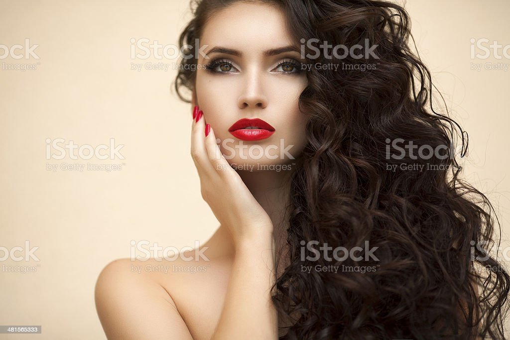 Young beautiful woman. Professional make up and hair style stock photo