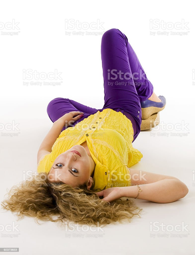 young beautiful woman resting royalty-free stock photo
