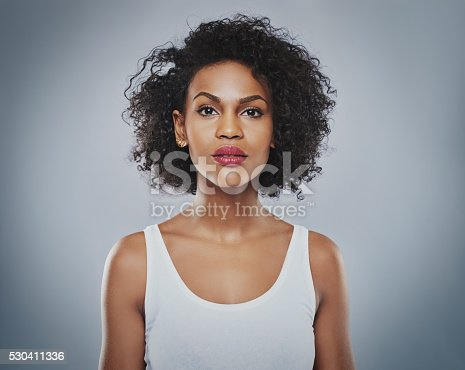 istock Young beautiful woman staring 530411336