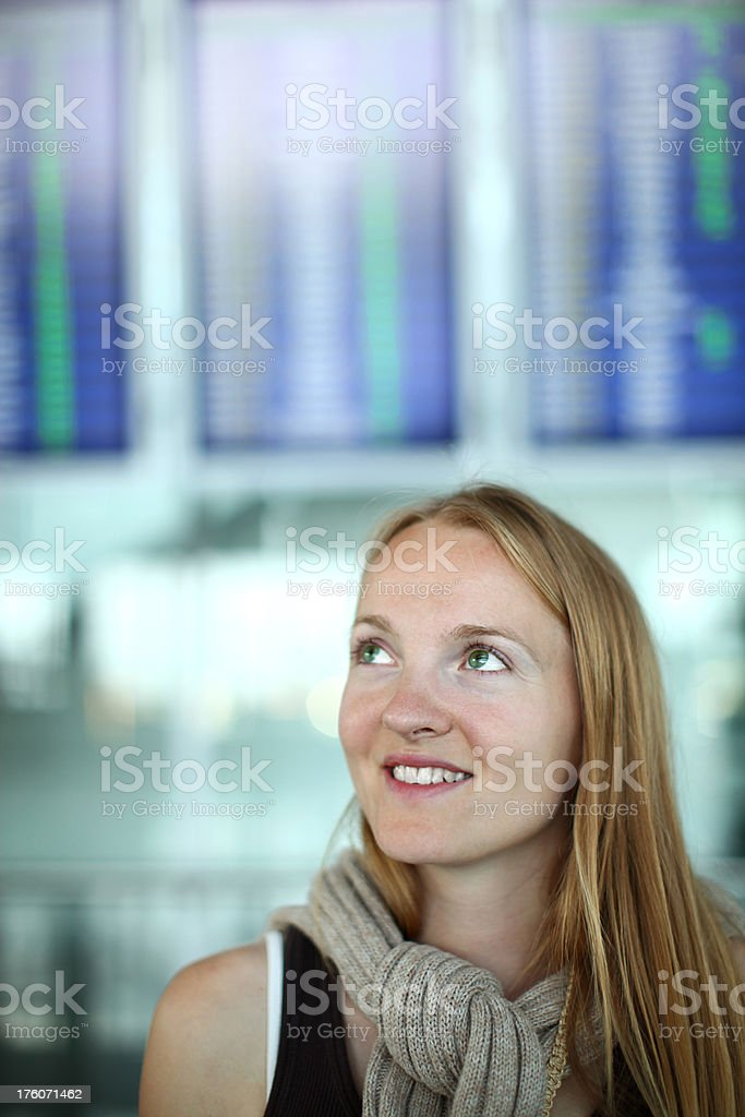Young Beautiful Woman Traveling Abroad royalty-free stock photo