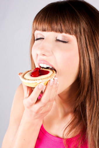 Young Beautiful Woman With A Cake Stock Photo - Download Image Now