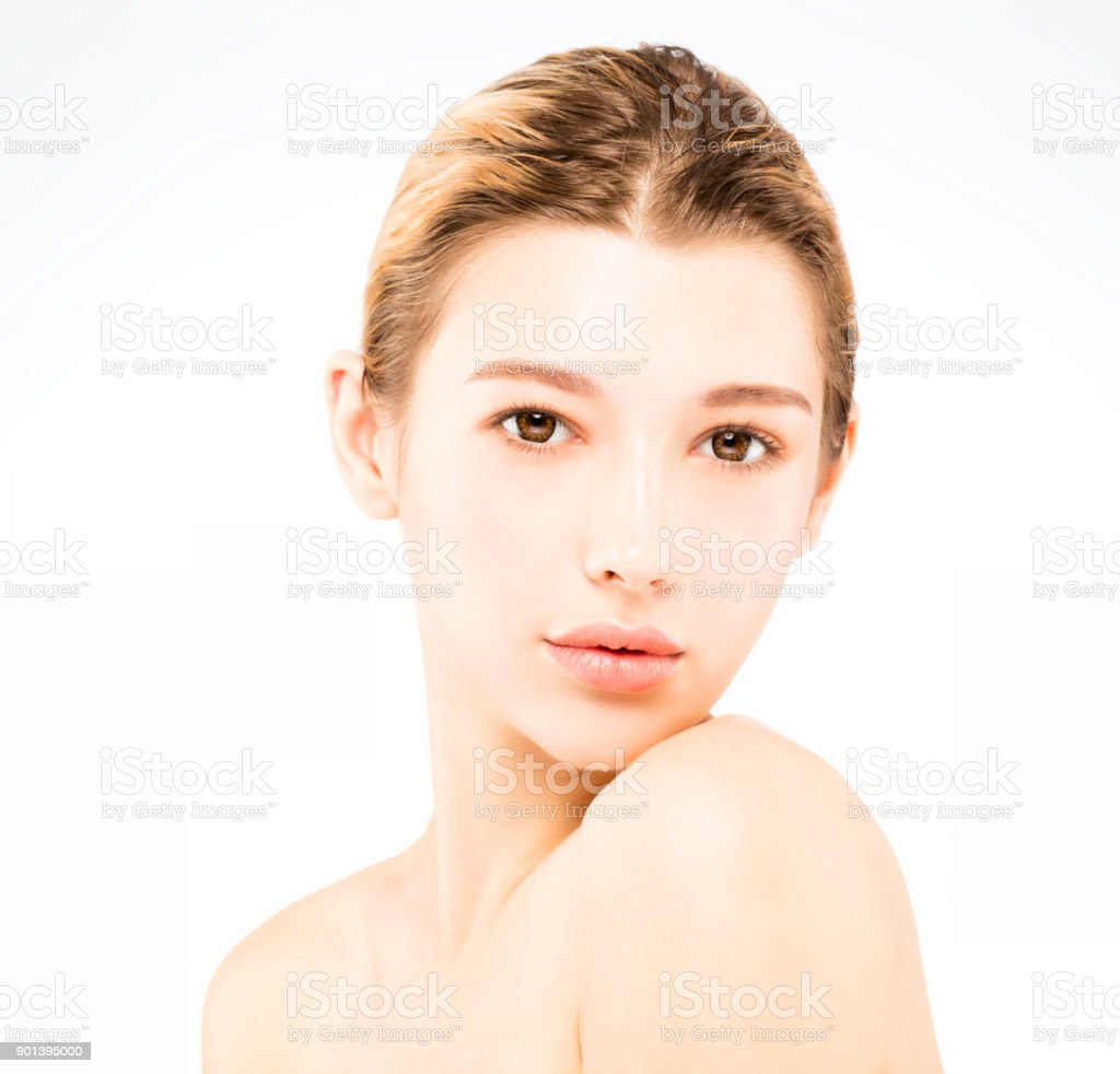Young Beautiful Woman With Beauty Face Stock Photo More Pictures