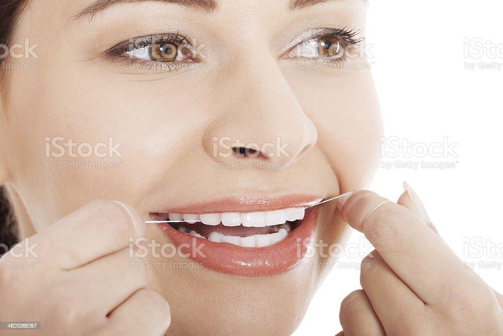 6243dd822 Foto de Jovem Mulher Bonita Com Fio Dental e mais fotos de stock de ...