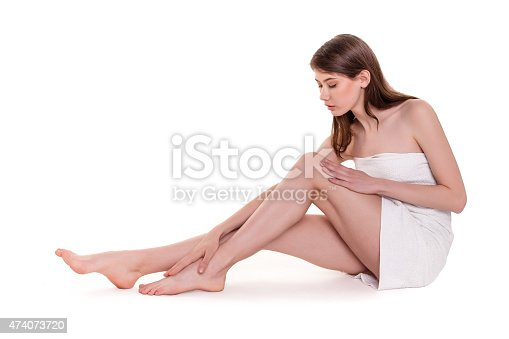 931733062 istock photo Young Beautiful Woman With Nice Legs in Spa Stock Image 474073720