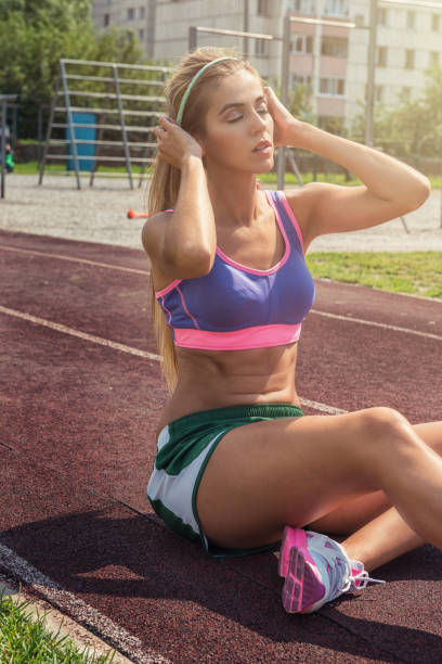 A young beauty athletic woman stock photo