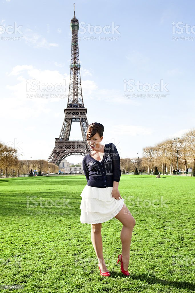 Young Beauty in Paris royalty-free stock photo