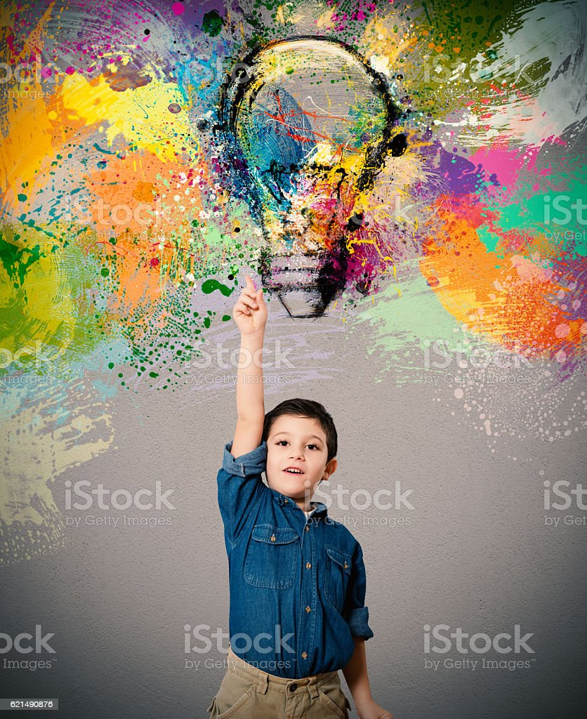 Jeune big idée photo libre de droits