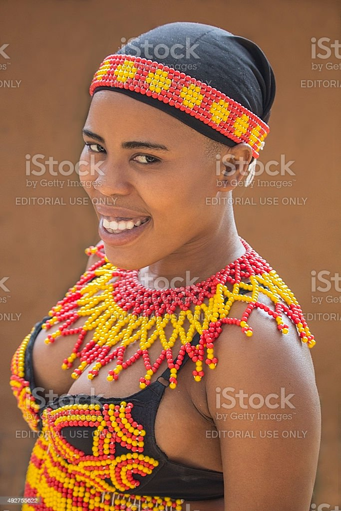 young black beautiful zulu woman in traditional handmade beads picture id492755622 - Traditional Zulu Wedding Photos