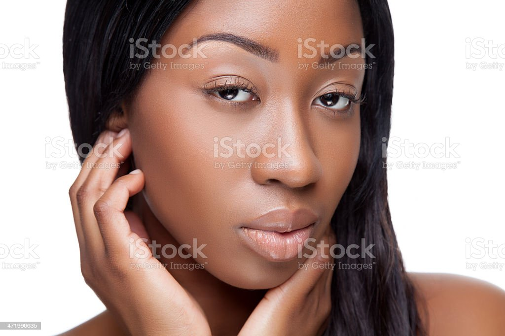 Young black beauty stock photo