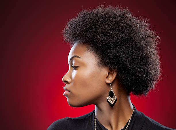 jeune noire afro beauté et de coiffure - black beauty photos et images de collection