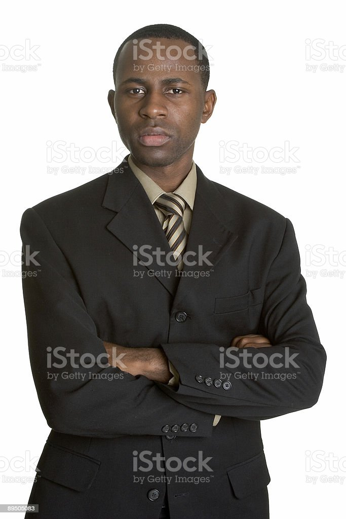 Young black businessman royalty-free stock photo