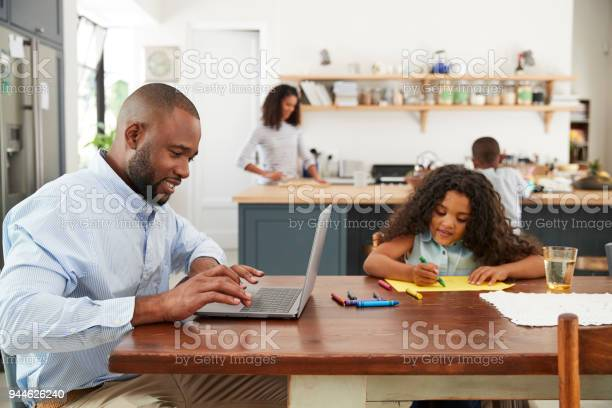 Young black family busy working in their kitchen picture id944626240?b=1&k=6&m=944626240&s=612x612&h=hudixwfedabvxisly6sfbw4dprpikeb7gklthzfxo9w=