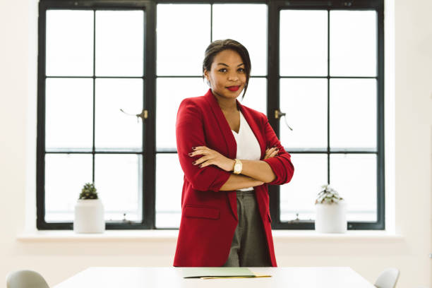 Young Black Female Enterprise Leader stock photo