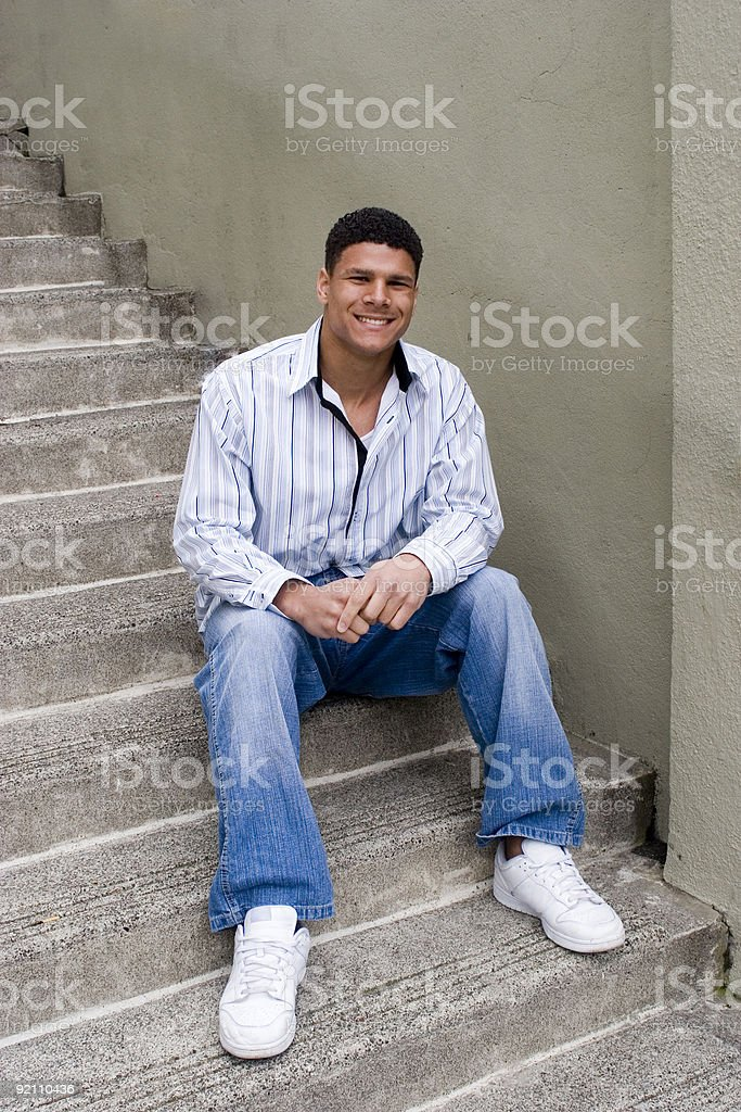 Young Black Man stock photo