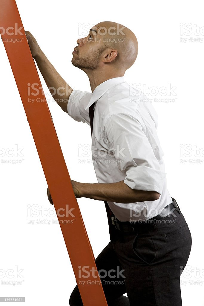 Young Black Professional Climbing the Corporate Ladder #2 royalty-free stock photo
