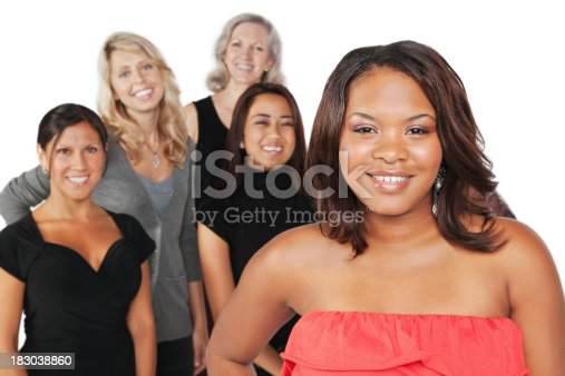 536775759istockphoto Young Black Woman With Group of Happy Women 183038860