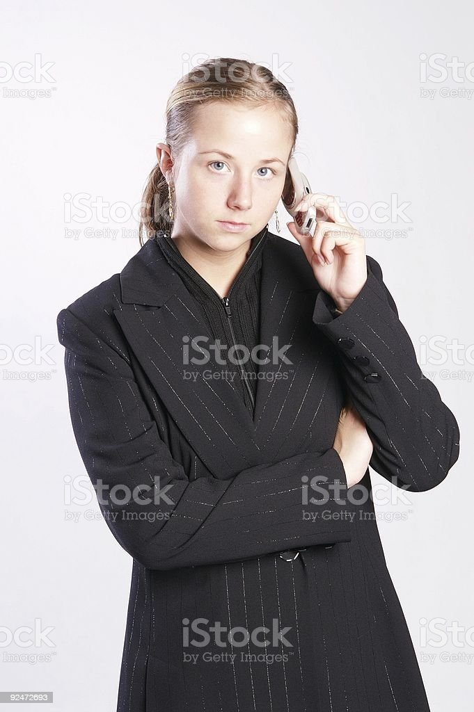 young blond calling royalty-free stock photo