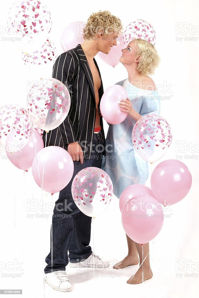 Young blond couple in love royalty-free stock photo