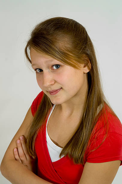 Young blond girl stock photo