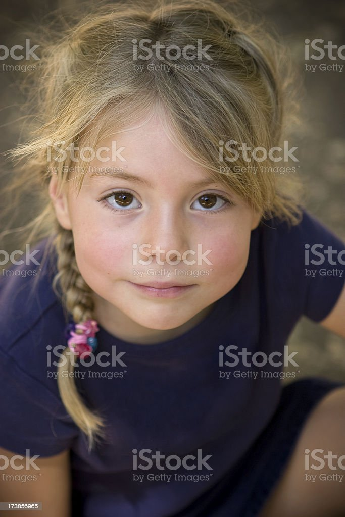 Young Blond Portrait stock photo
