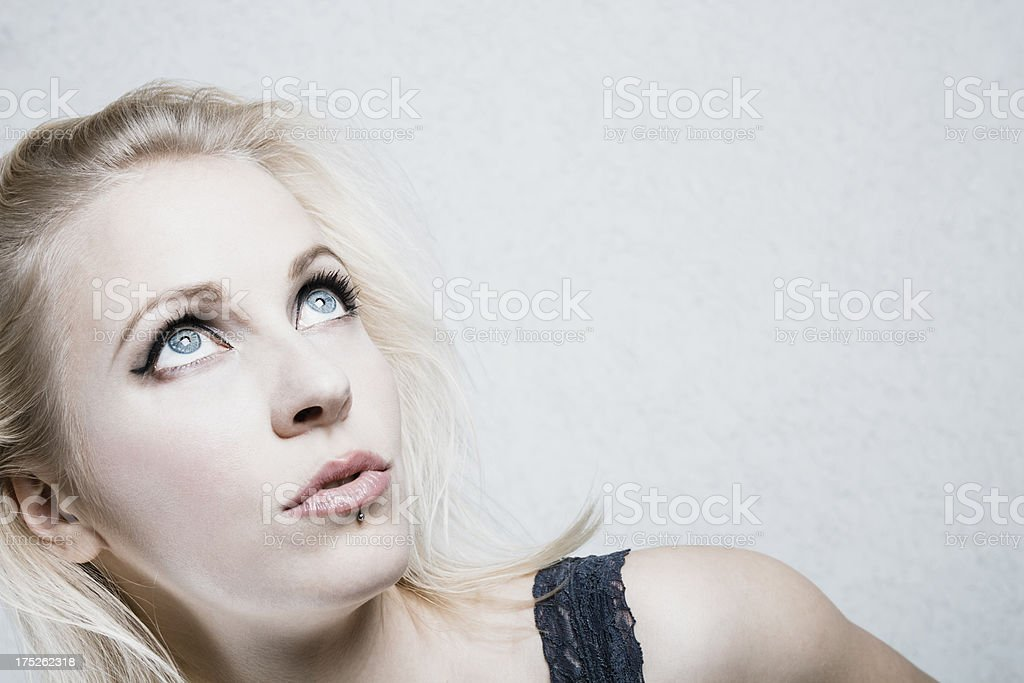 Young blond woman royalty-free stock photo
