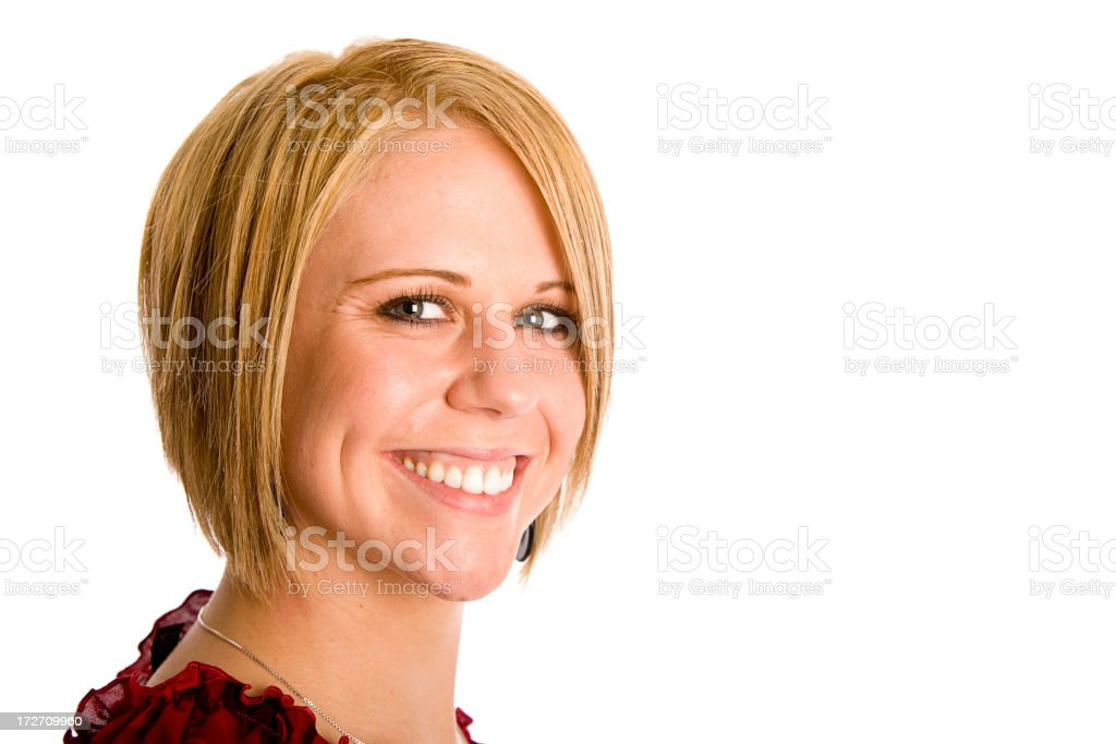 Young Blond Woman Series royalty-free stock photo