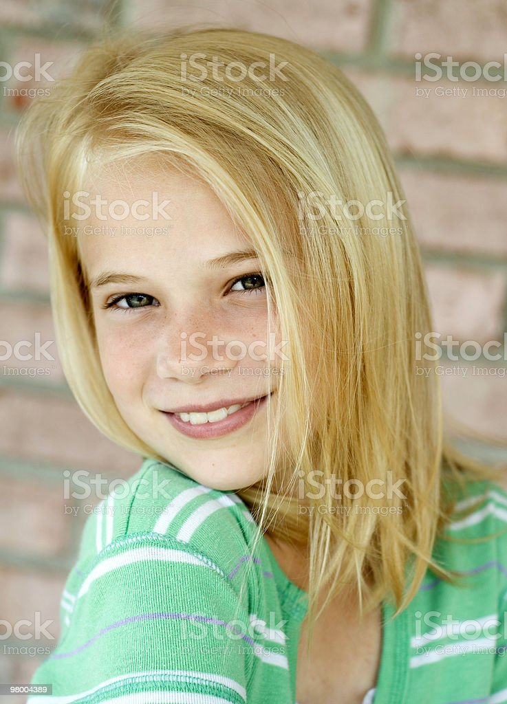 Young Blonde Female Child Closeup royalty-free stock photo