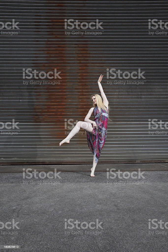 young blonde outdoor action royalty-free stock photo