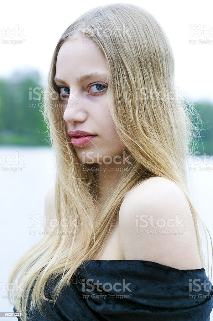 Young blonde royalty-free stock photo