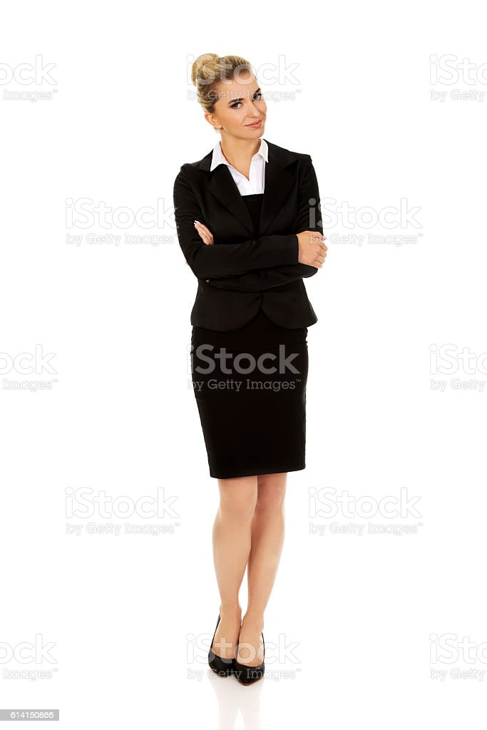 Young blonde smile businesswoman. stock photo