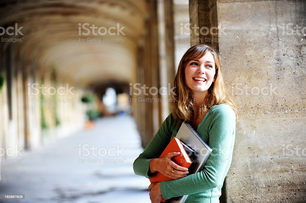 Young Blonde Woman University Student royalty-free stock photo