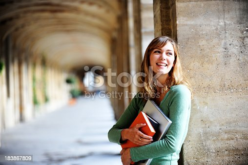 istock Young Blonde Woman University Student 183867809