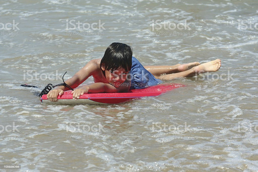 young bodyboarder royalty-free stock photo